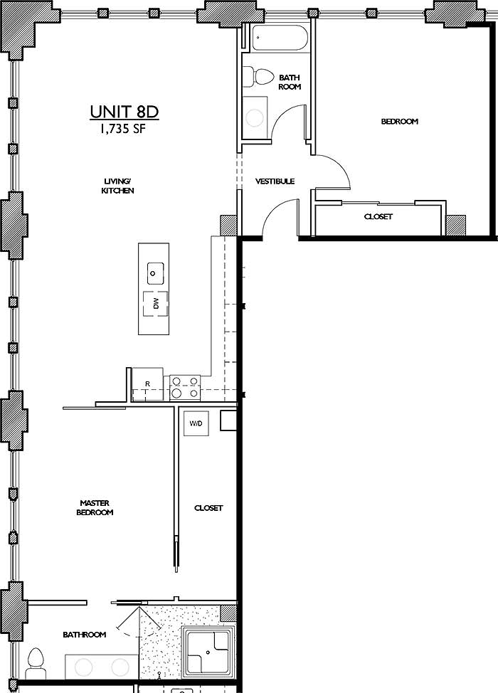 Residences 221 - Floor Plan 8D