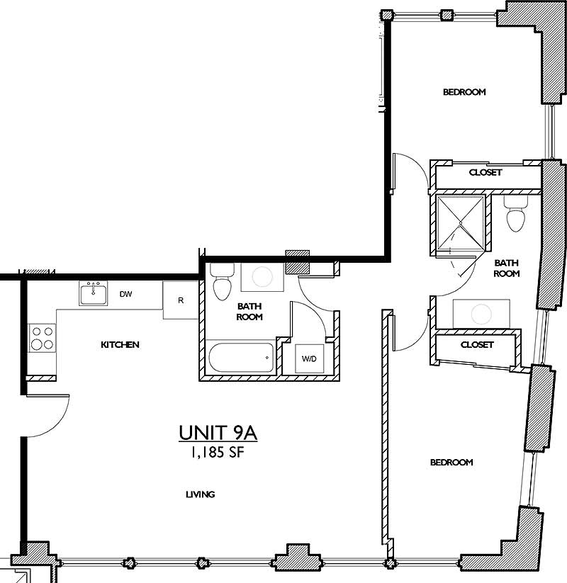 Residences 221 - Floor Plan 9A