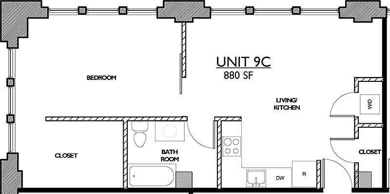 Residences 221 - Floor Plan 9C